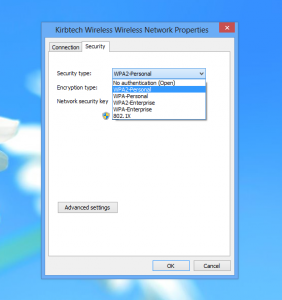 Windows 8 Wireless does not support WEP - Shared Key Authentication