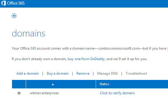 Office 365 Add Domain via Powershell Generic Top Level Domain