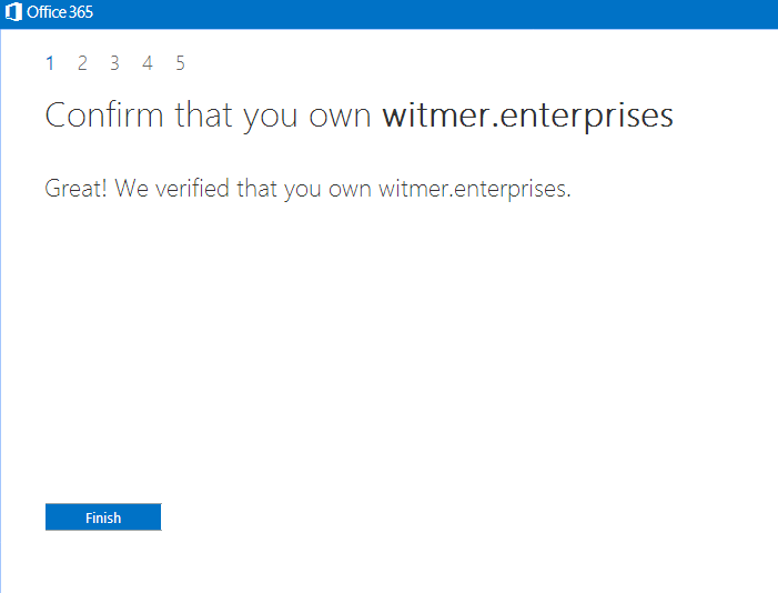 Verify gTLD domain in Office 365 Small Business