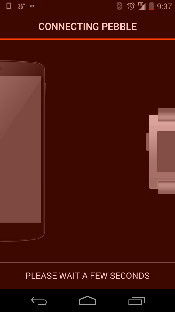 Connecting Pebble Steel with Android App (Google Nexus 5)