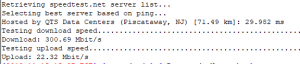 speedtest from ssh command line - barracuda nextgen firewall